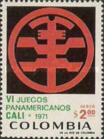 [Airmail - The 6th Pan-American Games, Cali, Typ AHZ]