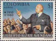 [Airmail - The 10th Anniversary of the Death of Gilberto Alzate Avendano, 1910-1960, Typ AIB]