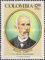 [Airmail - The 150th Anniversary of the Birth of Miguel Samper, 1825-1899, Typ AMW]
