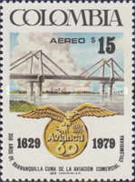 [Airmail - The 350th Anniversary of Barranquilla and 60th Anniversary of Avianca National Airline, Typ AQP]