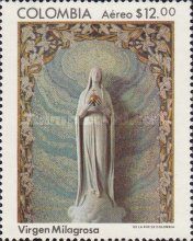 [Airmail - The 150th Anniversary of Apparition of Holy Virgin to Sister Catalina Labouri Gontard in Paris, type ASA]
