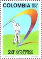 [Airmail - The 28th World Golf Cup, Cajica, type ASM]