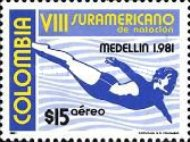 [Airmail - The 8th South American Swimming Championships, Medellin, Typ ASZ]
