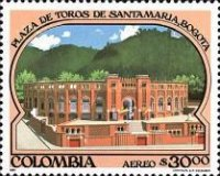 [Airmail - The 50th Anniversary of Santamaria Bull Ring, Bogota, Typ ATA]