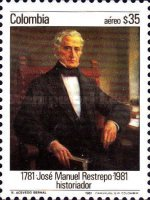 [Airmail - The 200th Anniversary of the Birth of Jose Manuel Restrepo, Typ AVB]