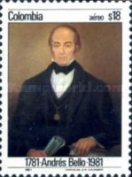 [Airmail - The 200th Anniversary of the Birth of Andres Bello, Typ AVE]