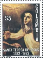 [The 400th Anniversary of the Death of St. Theresa of Avila, 1515-1582, Typ AXU]