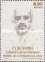 [Airmail - Award of Nobel Prize for Literature to Gabriel Garcia Marquez, Typ AYC]
