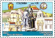 [Airmail - The 450th Anniversary of Cartagena, Typ AYW]