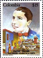 [The 50th Anniversary of the Death of Carlos Gardel, 1890-1935, Typ AZT]