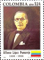 [Airmail - The 100th Anniversary of the Birth of Alfonso Lopez Pumarejo, 1886-1959, Typ BAF]