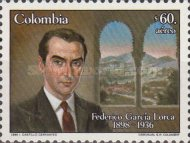 [Airmail - The 50th Anniversary of the Death of Federico Garcia Lorca, 1898-1936, Typ BBE]