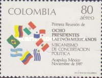 [Airmail - The 1st Meeting of Eight Latin-American Presidents of Contadora and Lima Groups, Acapulco, Mexico, Typ BCC]