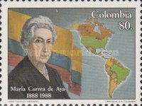 [The 100th Anniversary of the Birth of Maria Currea de Aya, Women's Rights Pioneer, 1888-1985, Typ BCN]