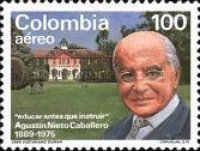 [Airmail - The 100th Anniversary of the Birth of Agustin Nieto Caballero, 1889-1975, Typ BDJ]