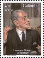 [Airmail - The 100th Anniversary of the Birth of Laureano Gomez, 1889-1965, Typ BDK]
