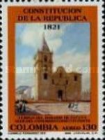 [Airmail - The 170th Anniversary of Creation of First Republic of Colombia and 168th Anniversary of its Constitution, Typ BES]