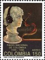[Airmail - The 50th Anniversary of Colombia National Radio, type BEX]
