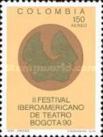 [Airmail - The 2nd Iberian-American Theatre Festival, Bogota, type BFD]