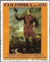 [Airmail - The 150th Anniversary of the Death of Francisco de Paula Santander, 1792-1840, type BFI]