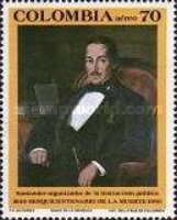 [Airmail - The 150th Anniversary of the Death of Francisco de Paula Santander, 1792-1840, type BFJ]