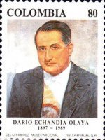 [The 2nd Anniversary of the Death of Dario Echandia Olaya, 1897-1989, type BGP]