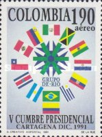 [Airmail - The 5th Group of Rio Presidential Summit, Cartagena, Typ BHG]