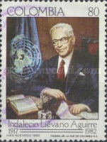 [The 10th Anniversary of the Death of of Indalecio Lievano Aguirre, Ambassador to U.N., 1917-1982, Typ BHT]