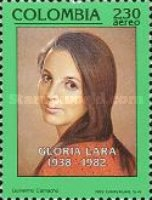 [Airmail - The 10th Anniversary of the Death of Gloria Lara, 1938-1982, Typ BIU]
