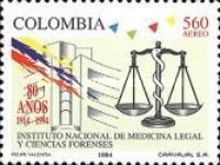 [Airmail - The 80th Anniversary of National Institute of Legal Medicine and Forensic Sciences, Typ BLI]