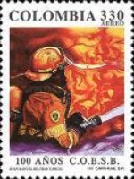 [Airmail - The 100th Anniversary of Fire Brigade of Bogota, Typ BMO]