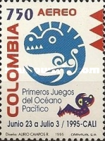 [Airmail - The 1st Pacific Ocean Games, Cali, Typ BMR]