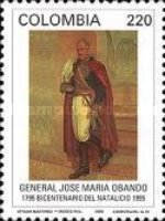 [The 200th Anniversary of the Birth of Jose Maria Obando, 1795-1861, Typ BMT]