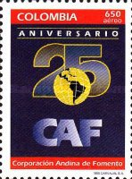 [Airmail - The 25th Anniversary of Andean Development Corporation, Typ BMY]