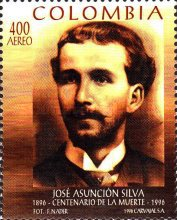 [Airmail - The 100th Anniversary of the Death of Jose Asuncion Silva, Poet, 1865-1896, Typ BNH]
