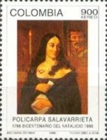 [Airmail - The 200th Anniversary of the Birth of Policarpa Salavarrieta, 1796-1817, Typ BNJ]