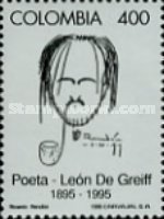 [The 100th Anniversary of the Death of Leon De Greiff, Poet, 1895-1976, Typ BNK]