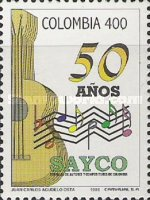 [The 50th Anniversary of Society of Colombian Authors and Composers, Typ BOA]