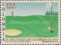 [Airmail - The 50th Anniversary of Colombian Golf Federation, Typ BOJ]