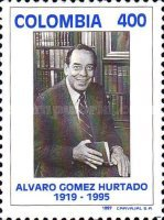 [The 2nd Anniversary of the Death of Alvaro Gomez Hurtado, Lawyer and Politician, 1919-1995, Typ BOW]