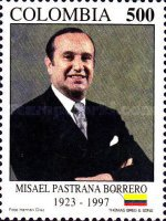 [The 1st Anniversary of the Death of Misael Pastrana Borrero, President, 1970-74, 1923-1997, Typ BQX]