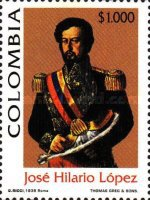 [The 200th Anniversary of the Birth of Jose Hilario Lopez, President, 1849-53, 1798-1869, Typ BRR]