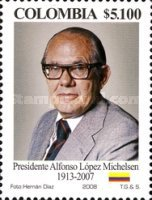 [The 1st Anniversary of the Death of Alfonso Lopez Michelsen, 1913-2007, Typ CGL]