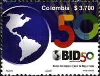 [The 50th Anniversary of BID - Inter-American Bank of Development, Typ CHT]