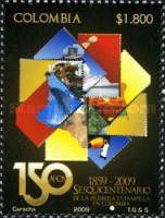 [Public Design Contest for the 150th Anniversary of the First Stamp of Colombia, Typ CJY]