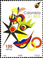[Public Design Contest for the 150th Anniversary of the First Stamp of Colombia, Typ CJZ]