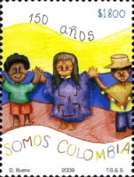 [Public Design Contest for the 150th Anniversary of the First Stamp of Colombia, Typ CKA]