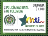 [The 126th Anniversary of the National Police of Colombia, Typ CWV]