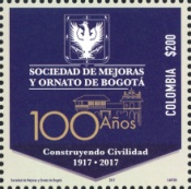 [The 100th Anniversary of the Improvements and Ornament Society of Bogotá, Typ CWX]