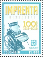 [The 100th Anniversary of the Distral Printers of Bogota, Typ DEL]